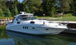 This FRESH WATER 2008 38 Dancer has T-Cummins MerCruiser® QSB-380 Diesel Engines w/ZEUS Drive with Less Than 500 Hours. This 38 Sundancer is in excellent condition and has a long list of options that include but not limited to: Skyhook, DTS, Joystick,