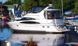 Loaded! Loaded! Loaded!   A luxury Aft-Cabin Motor Yacht with probably the most interior space than any other 40-  footer on the water.  The salon has a ceiling height of almost 7 feet, reclining seats, comfortable seating for  7/8. The entertainment