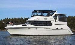 This boat is aggressively priced at $129,000! Great value with efficient diesel power, go boating for half the cost of a similar gas powered boat! This boat was purchased at Crates and has remained at Crates year around since new. A perfect Aft Cabin