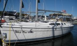 This 2005 model is loaded with cruising features. In mast furling, 11' dinghy & outboard (2009), heat & air & full electronics package. Located in the heart of Georgian Bay, White Pine is ready to step aboard. New fitted winter cover. This is the tri