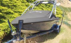 2008 SKY SUPREME V220,330HP Black Scorpion Mercruiser,GPS Perfect Pass,Boat Cover,Stainless Steel Package,Bimini Top,Upgraded Godzill Tower,Bow Filler Cushion,Depth Finder,Xtra Large Fiberglass Swim Grid, The Sky package gives riders 600 pounds of