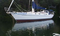 Completely equipped for safe bluewater cruising this super maintained Niagara 42 is ready fo more cruising.  Hull and deck have been beautifully refinished and with power winches and windlass, watermaker, hard dodger and davits she is smartly outfitted