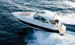"Blurring the line between ""overachiever"" and ""destined for greatness,"" the remarkable 430 Sports Coupe offers amenities, features and luxuries normally reserved for much larger yachts. Plus, the 430 SC comes with the convenience of a walk-thru windshield"
