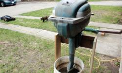 1953 evinrude outboard motor. new points, plugs and points . gas tank on top. easy starter 450.00 OBO