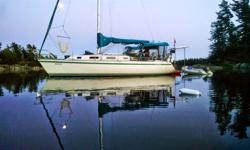 CS34 Sloop - built in 1991 Price $49,900 Well maintained, fresh water boat Located on Georgian Bay, Penetanguishene Recent upgrades -cockpit cushions (2012) -2 120 watt solar panels (2013) -30 amp charge controller (2013) -2 house batteries (2014) -drive