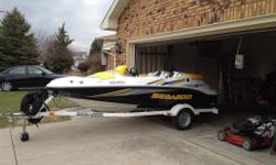 2005 Seadoo Sportster 215 Supercharged. Boat is in great shape, clean, maintained and started on first fire this year. Professionally winterized and garage kept every winter and summer. No fading or cracking on fibreglass or vinyl seat. I am the second