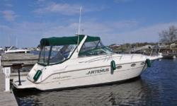 What a perfect family cruiser, offering a lot of boat for 32 feet. Large cockpit with plenty of seating for entertaining. Oversized cockpit fridge that can store all your beverages and snacks. Upgraded color GPS Chart Plotter at the helm for the
