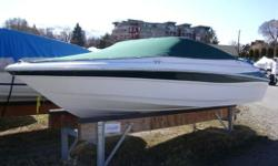 *SHE HAS BEEN WELL MAINTAINED* WHITE & GREEN IN COLOR. HAS A VOLVO 4.3 GL (190 hp) MOTOR, VOLVO SX DRIVE, DEPTH-SOUNDER, CLARION CD PLAYER W/SOUND SYSTEM, SPORT SEATING W/ SWIVEL BUCKETS AND AFT BENCH, SUNPAD, FULL SNAP COVER W/ADDITIONAL BOW COVER. CALL