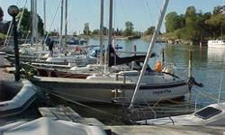 Sailboat 1974 Northstar 600, Hull #29, 26' overall, 9' beam, 4' draft, 5500# displacement, 2000# ballast (lead). Outboard Long Shaft 9.8 HP 1980 Mercury Motor with Electric Start and Remote Controls, 2 gal. gasoline tank. 7 Sails: Main with single/double