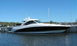 New to the market, this one owner 2009 Sea Ray 60 Sundancer is the Flagship of the Sea Ray fleet. Exceptional three stateroom layout boasts a fully enclosed pilothouse, second to none helm layout, full beam master suite, and top quality fit and finish
