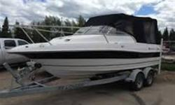 Very good condition. Less then 700 hours 350 motor with a bravo II roof top (canvas) less then 3 yrs old! cab cuddy cabin with sink,potty and ice cooler! great boat for fishing and pleasure!