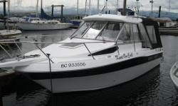 "2008 Campion 682 Explorer, 25 feet. As new - hardly used. 5.7 liter Volvo Penta inboard engine, as well as Yamaha 9.9 kicker with stainless steel prop guard and easy steer remote systems. 10 "" Lowrance GPS/Fishfinder combo, and also smaller Lowrance GPS."