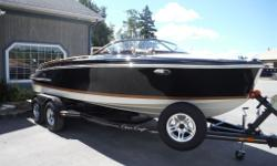 5.7 Merc with bravo 3 heritage edition trim tabs led bow docking lights cockpit cover and convertible top custom trailer extra 5500.00 Black pearl custom paint HERE IS THE CHANCE TO OWN ONE OF THE RAREST AND UNIQUE BOATS IN HISTORY CHRIS CRAFT DATES BACK