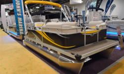 SAVE OVER $4,000! Enjoy your time on the water with this compact easy to run pontoon. We take new purchasers out on the water to become familiar with the new boat. Has mooring cover, stereo, comfortable bow bench seat with layback, and a larger rear deck