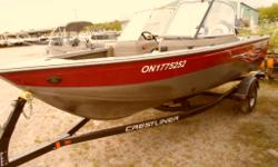 Fill your boots! Very clean 2009 1650 Crestliner Canadian with four seats and canvas (great condition) and a brand new 2013 Mercury 75 hp Four Stroke engine! Trailer included for the low price of $18,900 plus HST. Save the freight / pdi and get full