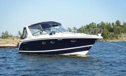 The Chris Craft 308 Express Cruiser is the next step from a trailerable, weekender, cuddy type boat to a full size mid cabin cruiser and is just right for a growing family searching for an entry level cruiser or a couple looking to enjoy cruising with all