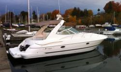 Cleanest 2004 fresh water 340 you will find! Bow Thruster, GPS and chart plotter. new power inverter and over sized batteries this year. Only 326 hrs on both her Volvo Penta 8.1GXi. This boat likes to cruise at 34 mph and has a top speed of nearly 50 mph.
