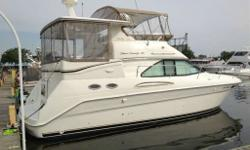 BEAUTIFUL CONDITION Gorgeous and well maintained 1997 37' Sea Ray Aft Cabin Motoryacht. The Sea Ray 370 Aft Cabin is a sport yacht that enables you to spend the night away from home. Powered by twin 7.4L MerCruiser inboards, the 370 Aft Cabin features a