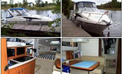 A great starter cruiser with loads of living space.  This boat will serve  any family well for years. Equipment Includes: 12 volt 110Volt fridge, Microwave, Hot water with heat exchanger, Compass, depth sounder, VHF Radio, GPS plotter, Dual Batteries, TV