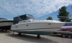 Twin merc V6s with alfa drives, 4 blade props, AC, camper top and tonneau cover, electronics, stereo system, wide beam, hardwood floors, large bathroom, shore power, hot water, super clean, surveyed and prepped for the water, new bottom paint and