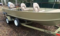 Lund 1600 Alaskan purchased in 2014 ,was stored indoors for many years previous owner was ill,,sold the engine,I repowered with a 2014 50 HP HONDA EFI 4 stroke. The Engine was installed in June of 2014 but never put in the water ,,warranty will expire in