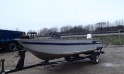 SERIAL # / VIN: BUJ457271293 REG #: 30E19822 MOTOR: Johnson 50 HP, Depth Finder, Electric Trolling Motor, Removable Seats Outboard, Reverse, 2 Down Riggers ***THIS UNIT IS BEING SOLD AT AUCTION*** - Join us for our two-day auction sale! - May 3rd is Heavy