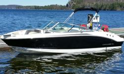 AccessoryCOCKPIT UPHOLSTERY- BLACK INTERIORPREP FEE (SHIPPING COVER & GROW BOATING)FISH FINDER GARMIN ECHO 151PackageDELUXE PACKAGE (INCLUDES ALL CONV ITEM)Engines2015 MERCURY 220HP 4.3L MPI ALPHA 1SpecificationsLength Overall (LOA) 21'Approximate Dry
