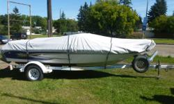 4.3 litre 190HP motor, comes with bow mount trolling motor, live well and trailer included
