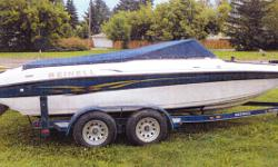 Includes 220HP Volvo Penta motor, fish finder, trolling motor mount and much more.