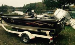 Great fishing, family fun boat! 2007 G3 V172 Angler 1997 Hondo 90 Fourstroke The motor runs great; it has a brand new bottom end ($5,000.00), replaced last season. The boat is 17.5 ft long with four seats and one fishing seat. Theres a dent in the bottom