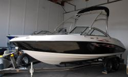 Yamaha AR230 Designed for wakeboarding and watersports, and can accommodate 10 people with plenty of area to lounge around. With independent controls for the twin MR1 engines, this boat handles like a dream with the speed and performance required for your