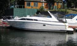 37' LENGTH OVERALL WITH AN 11' BEAM, TWIN 5.7L (350'S) MERCRUISERS WITH BRAVO II OUTDRIVES, ONLY USED IN FRESH WATER, FULLY LOADED FLOATING COTTAGE THAT SLEEPS 6 - 8, COMES WITH A FULL GALLEY, ELECTRIC COOKTOP, MICROWAVE, FRIDGE WITH FREEZER, SINKS UP AND
