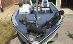 "LUND 1790 BASS - 17' 2"", 83"" beam, 20 gallon built in gas tank. Boat, Motor and Trailer owned since new. 115 HP Evinrude 2 Stroke in excellent condition and very well maintained, Minn Kota 80lb 24V trolling motor w/ foot pedal, new bench seating installed"