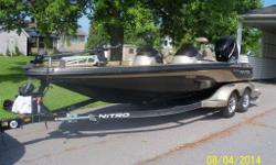 2005 Nitro 929cdx dual console bass boat,275 hp merc verado , four stroke,101 minn kota fortrex , 3 bank charger , keel guard ,cover,great ,big water boat.call Brian 613-551-0174 $18,500.00 obo