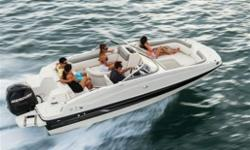 2015 Bayliner 190 Deck BoatBayliner's all-new entry-level Deck Boat is far from basic. The 190's customizable under-seat storage includes smart dividers to partition gear. Fuel-efficient Mercury outboard power gets the 190 up on plane fast, even with the