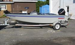 Princecraft Model 169sc,with a 2004 2 stroke 90 HP Mercury motor, Minn kota 55lb trolling motor with co-pilot, fish finder,live well etc... Call for more information on this fantastic smooth & fast running machine.Mike at 613-850-4538.