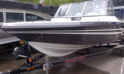 115 YAMAHA 4-STROKE OUTBOARD WITH 13X17 STAINLESS STEEL PROP, CUSTOM TRAILER...TOO MANY OPTIONS TO LIST FOR THIS BIG WATER FISHING BOAT! BLACK ONYX FLAKE