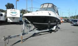 2006 Sea Ray Sundancer Cuddy 240 Boat With Trailer, 8 cylinder, black exterior, white interior, vinyl, MerCruiser 350 MAG MPI, Northstar Explorer 550, Navman VHF 7200, US-SERR1774J506. Includes 2005 EZ Loader Trailer VIN 1ZEAANVG25A000312. $29,870.00 plus