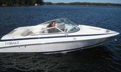 Excellent condition! The 190 model has great seating and you can see the Cobalt quality throughout! Comes with a full convertable top, Sony stereo, tilt steering, swim ladder and so much more! Backed by our outstanding used boat warranty!