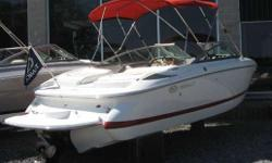 This Cobalt 200 is in exelent condition inside and out! Features include: woodgrain dash/trim package,Sony am/fm stereo cd player, bimini top, bow and cockpit covers, extended swim platform and much more!