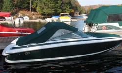 This boat was bought from us new and we have done all the service on it since. The boat has been used by Islanders and dry stacked at our facility during non-use periods. Features include: convertible top, bow cover, Sony am/fm cd player, woodgrain dash