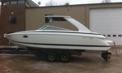 Specifications Length Overall (LOA): 312 CABIN Forward berth - converts to dinette Hanging locker CANVAS Cockpit cover COCKPIT Snap-in carpet Under seat storage DECK Arch  Curved, tinted glass windshield Deck hatch w/screen Extended swim platform Ski tow