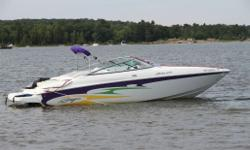 Powered by a 496 Mercruiser Bravo 3 with approximately 210 hours. Includes matching tandem trailer. Boat is now on site and available for viewing.