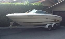 2002 Searay 210 Bowrider 21Ft Boat. 5.0L Mercruiser I/O, fresh water cooled. Less than 120 hours and immaculately maintained. New CD player and speakers. Boat has bimini top, lots of storage and ice boxes, bow and cockpit canvas covers, and secondary boat