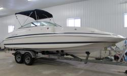 ON HOLD- UNDER DEPOSIT- Absolutely stunning Chris Craft 24 Foot Bow Rider. Wide beam deck design. Ultra modern top quality boat in flawless condition. Comes with a 5.7L V8 Volvo Penta rated at 300HP. Private head, pressure water, snap in carpets, Bimini