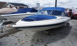 Clean 18' Cutter, 90HP Evinrude E-Tec. Brand new convertable top, sport int., full gauges, built-in fuel tank. Comes complete with a new Easy Hauler trailer. $14,900 OBO.