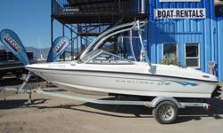 Very well kept used Bayliner- Wakeboard tower- stereo upgrade- brand new bow and cockpit cover- galvanized trailer included - fully inspected by our shop