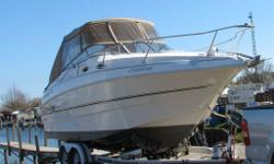 We have a 1999 Larson Cabrio 254 for sale. It has a Volvo Penta 5.7 litre engine with 420 hours and a SX outdrive. Meticulously maintained by a professional mechanic and always stored indoors. It has a mooring cover as well as a camper top. Large queen
