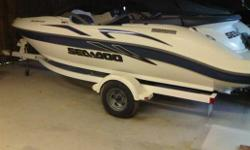 Clean boat ,low hrs, sterio ,full mooring cover,           Bunk trailer with brakes inc              WILL TRADE FOR 2 NEWER PWC