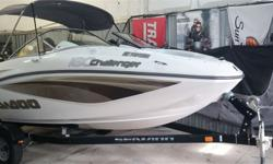 SeaDoo 18' bowrider with full glass windshield and seating for 7+. With 215hp it has plenty of power for pulling toys. Fiberglass washdown floor, stereo, cover and trailer. Fully inspected, sold ready to go.Call Hully Gully for appointment to view.